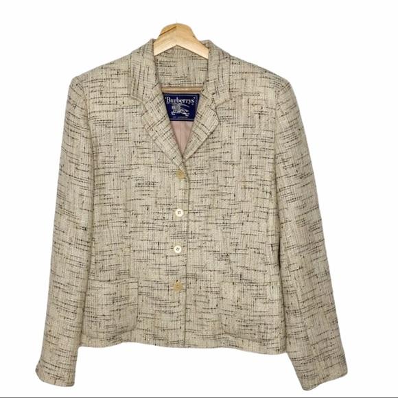 Vintage Burberrys' Multi Tan Tweed Blazer